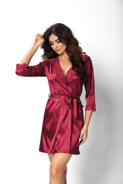 Venus dressing gown Burgundy