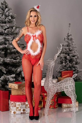 LC 17178 Magali Сhristmas bodystocking, livco_lc 17178 magali сhristmas bodystocking, livco corsetti fashion, Польша